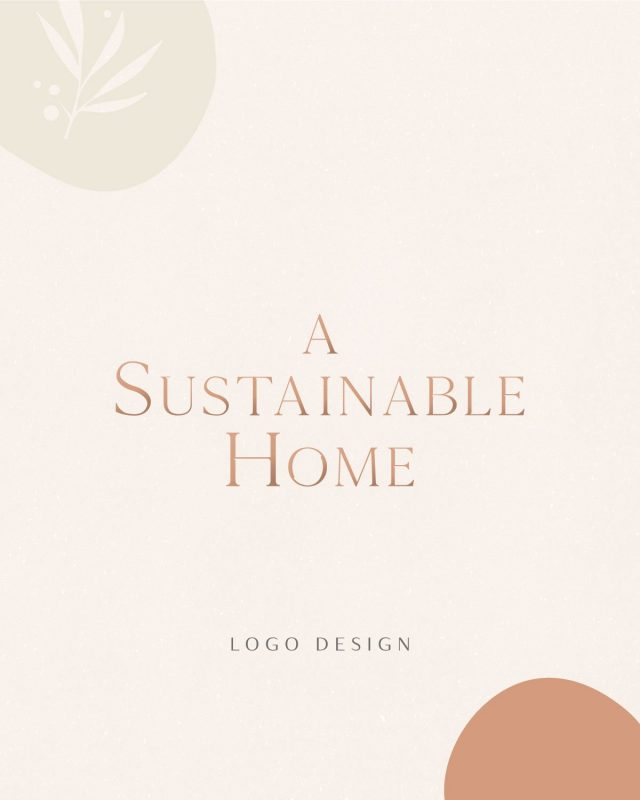 a sustainable home logo design
