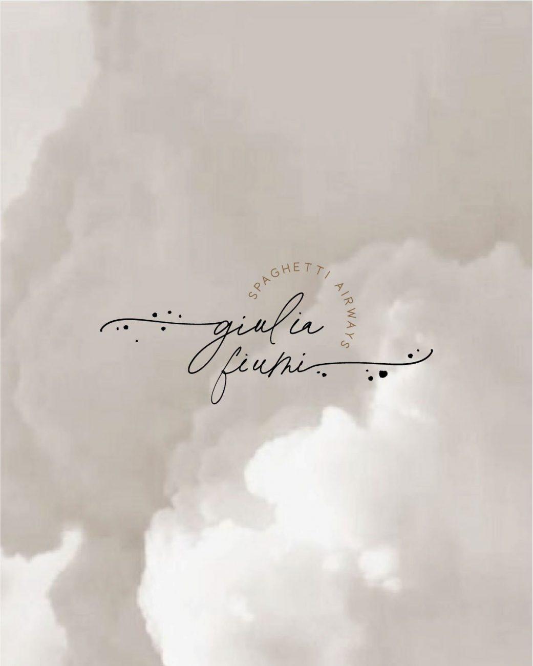 GIULIA FIUMI logo design copertina