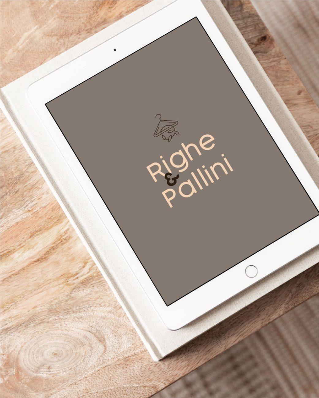 RIGHE & PALLINI logo design copertina